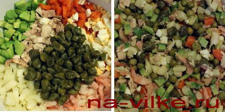 Ингредиенты оливье
