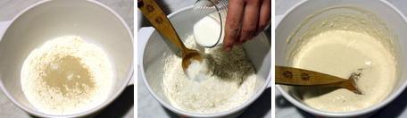 Месим дрожжевое тесто на блины
