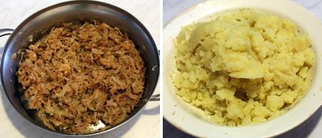 Капуста и картофельное пюре