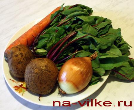Ингредиенты для ботвиньи