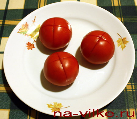 Чистим помидоры - 1
