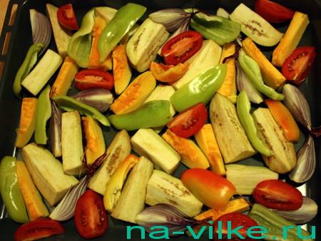 Овощи резаные