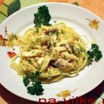 Спагетти с треской