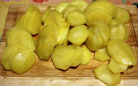 Картофель ломтиками