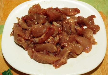 Кусочки куриного мяса