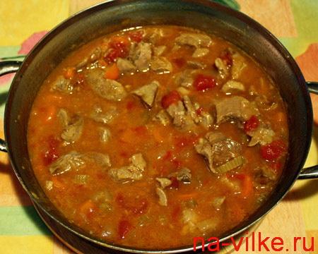 Рагу из мяса индейки