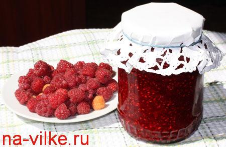 Малина с сахаром