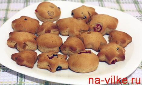 Пряничное печенье с цукатами
