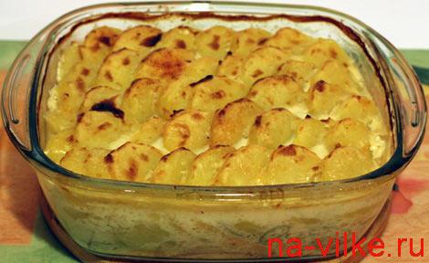 Картофельно-рыбная запеканка