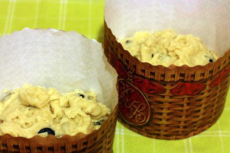 Тесто для куличей в бумажных формах