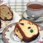 Кусок кекса и чай