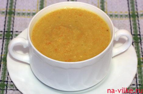 Суп пюре с цветной капустой и сыром