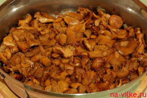 Лисички на сковороде