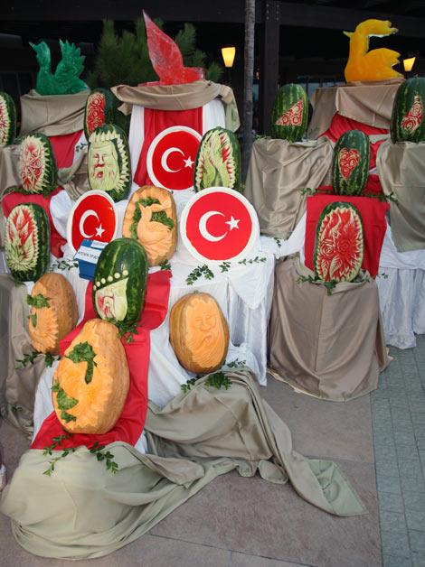 Карвинг в Турции по арбузам и тыквам
