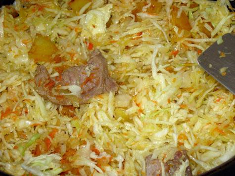 Готовим капусту с мясом