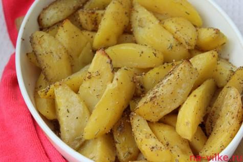Печёные картофельные ломтики
