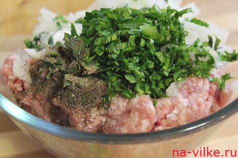 Фарш мясной с зеленью