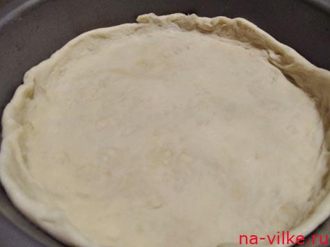 Слоёное тесто в форме