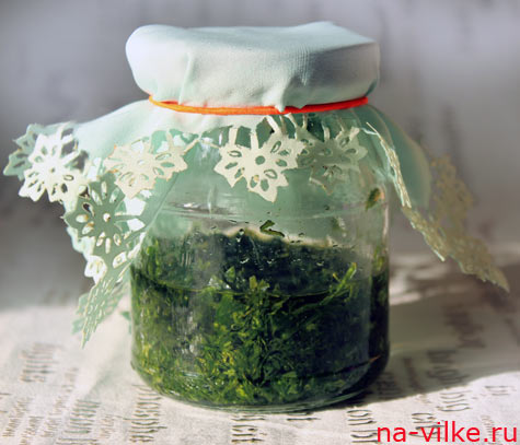 Растительное масло с зеленью