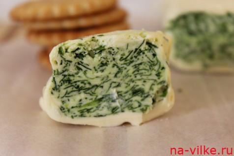 Зелёное масло с печеньем