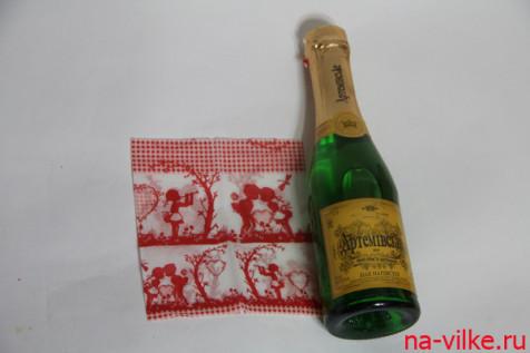 Бутылка и картинка