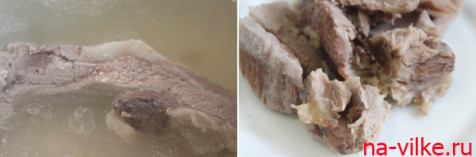 Свинина и бульон