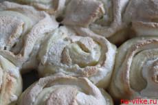 Творожные булочки с безе