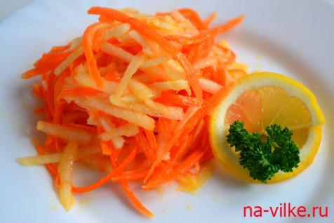 Салат из чёрной редьки и моркови
