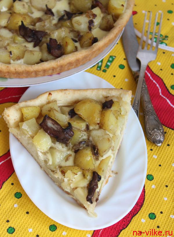 Пирог с мясом и картофелем - кулинарный рецепт
