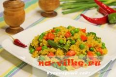 Карри с рисом и овощами