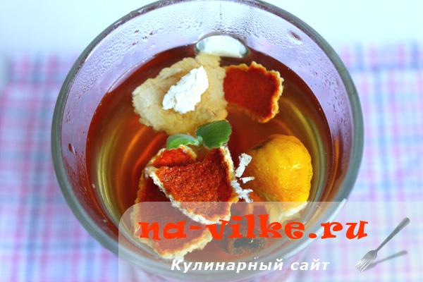 Ароматный чай с имбирем