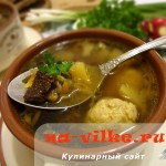 Суп из белых грибов с фрикадельками