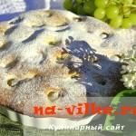 Изумительный творожный пирог с виноградом