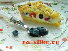 Тарт с рикоттой и ягодами - кусок
