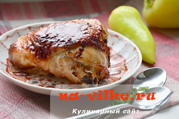 Куриные бедрышки в меду с тимьяном — готовим в аэрофритюрнице