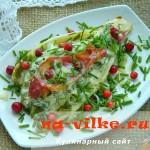 Цикорий запеченный с сыром и ветчиной