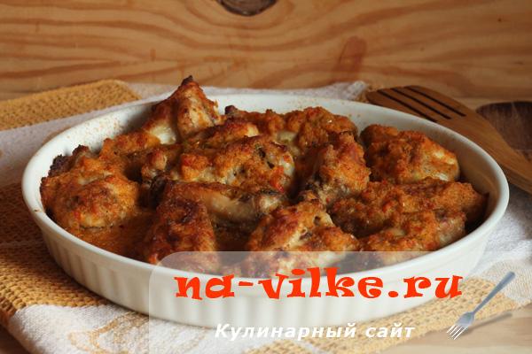 Куриные крылья в соусе пири-пири