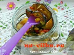 Острые баклажаны в медово-лимонном соусе