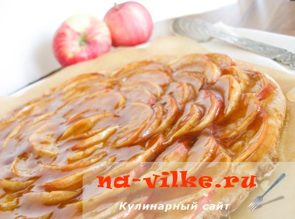 Французский яблочный пирог с лаймом