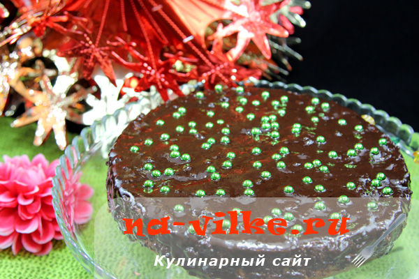 Фисташковый бисквит в шоколадной глазури