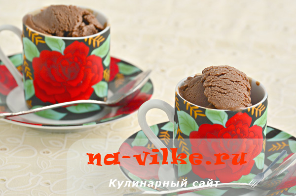 Молочное шоколадное мороженое