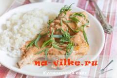 Кролик в сливочно-томатном соусе с экстрагоном