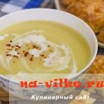 Французский суп-пюре из картофеля и лука порея (Potage Parmentier)
