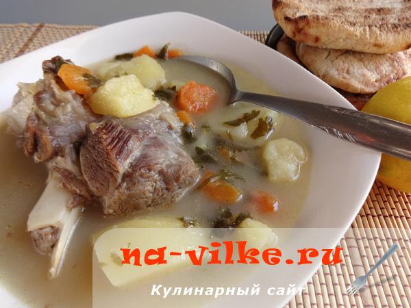 Суп из козлятины с овощами (Гида врасты)