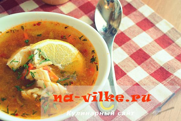 Рыбный суп с треской и сёмгой