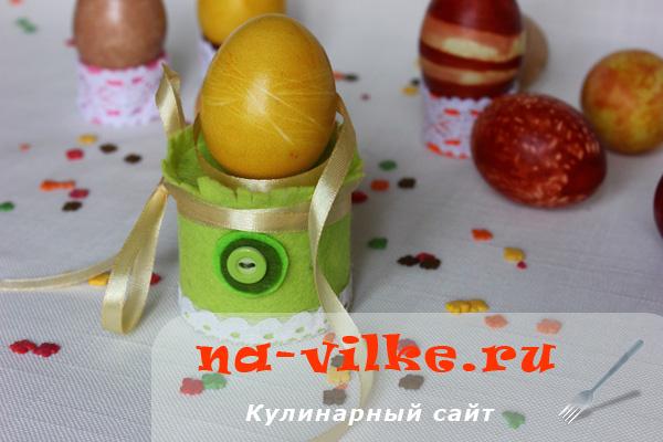 Крашеные яйца с помощью натуральных красителей