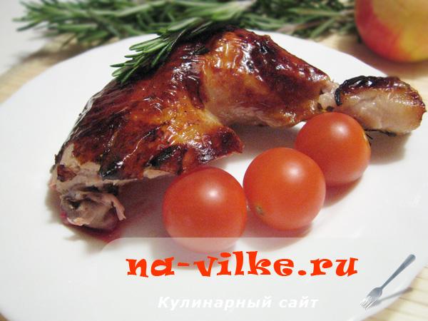 Курица запеченная с фруктами