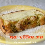 Пирог с ревенем на бисквитном тесте