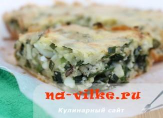 заливной пирог с луком и яйцом рецепт видео #14