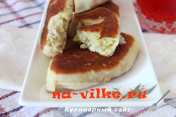 Пирожки с картошкой на заварном дрожжевом тесте